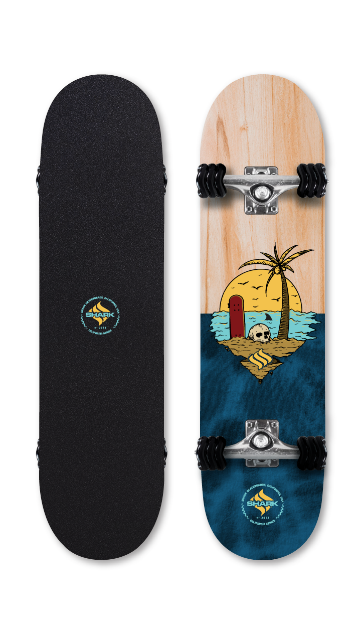 Skull Island - Street Skateboard by Shark Wheel