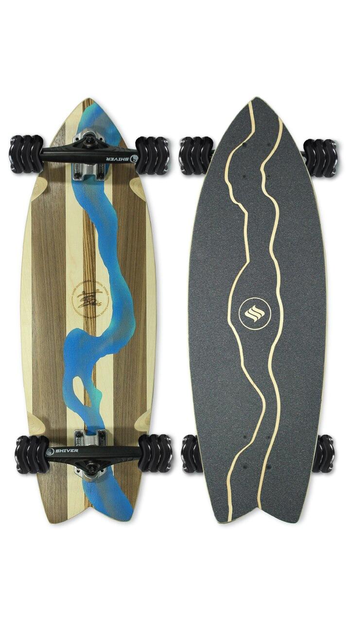 River Cruiser Skateboard (Custom Handmade Board)
