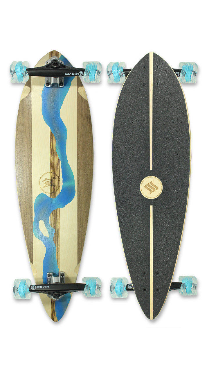 River Pintail Longboard (Custom Handmade Board) by Shark Wheel