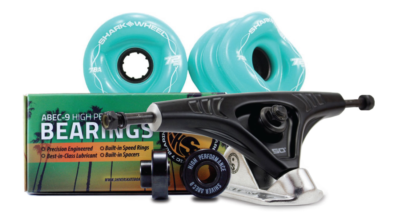 (Ships in January) 72MM Bundles. Turquoise.  DNA Wheels with Abec 9 Bearings & Pro Series Trucks
