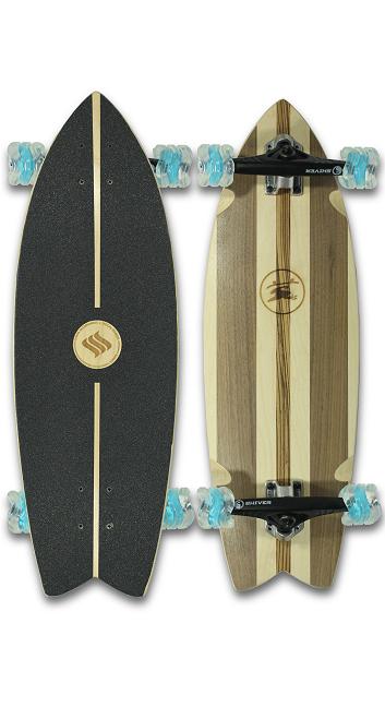 Natural Cruiser Skateboard (Custom Handmade Board) by Shark Wheel