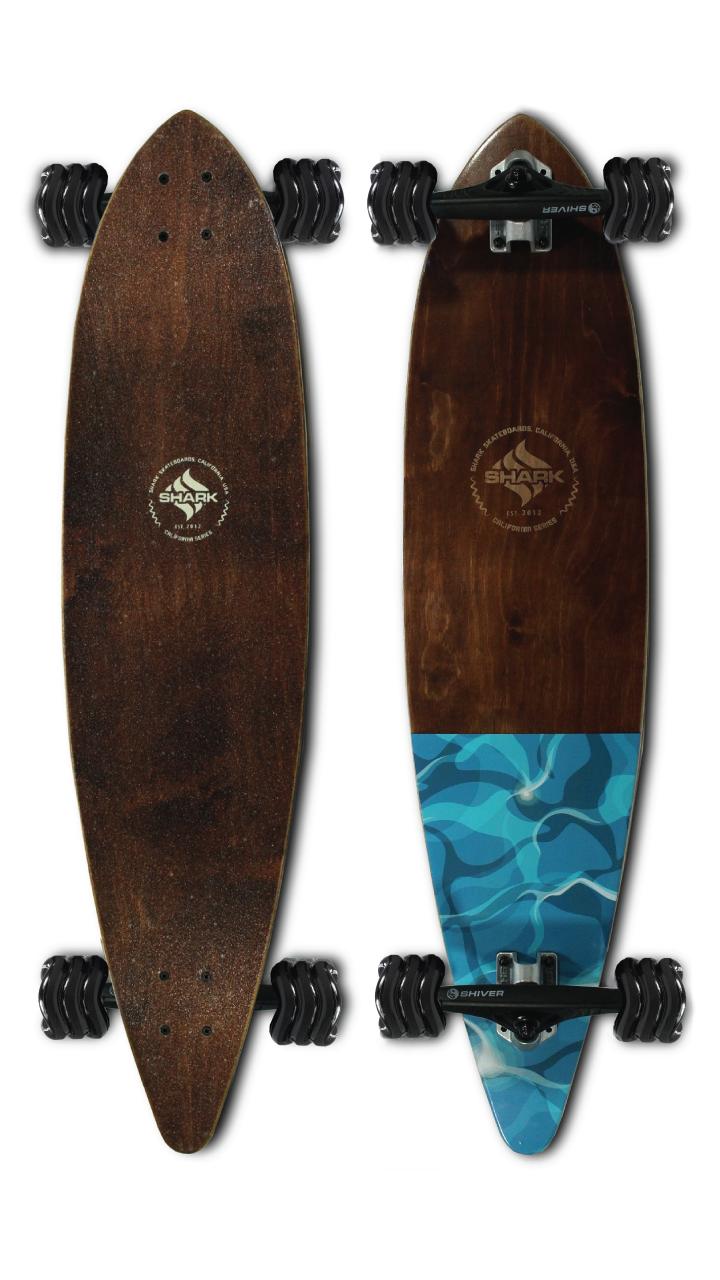 Water Flow Pintail Longboard by Shark Wheel