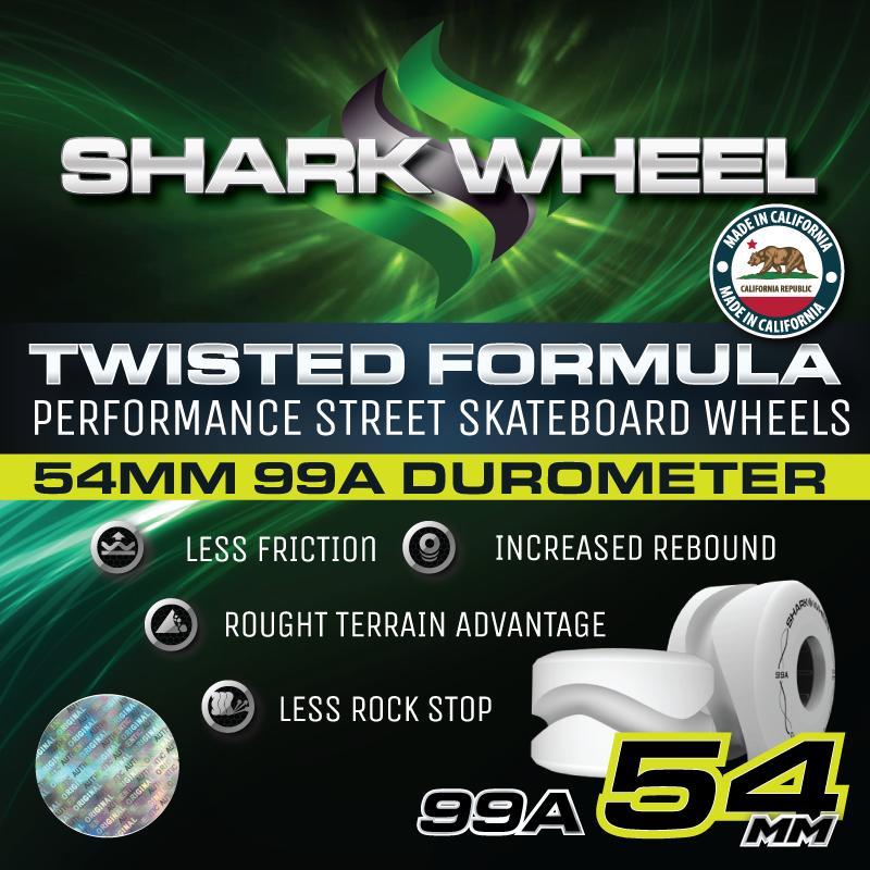 Shark Wheel - 54MM Twisted - White