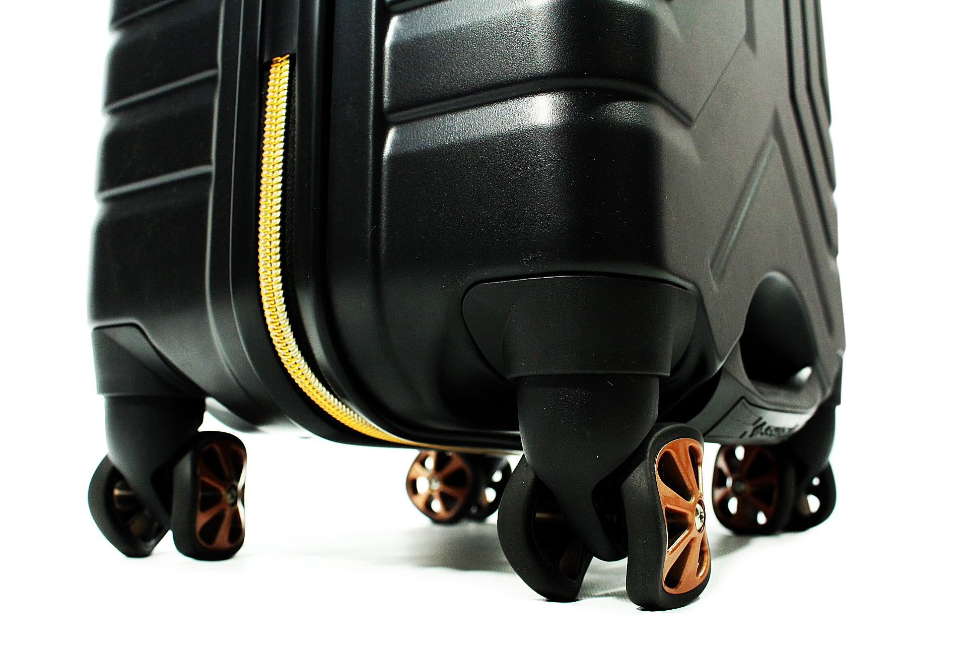 Carry-On Luggage by Shark Wheel (Black/Copper)