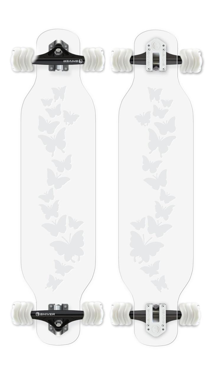 CLEAR Butterfly Longboard