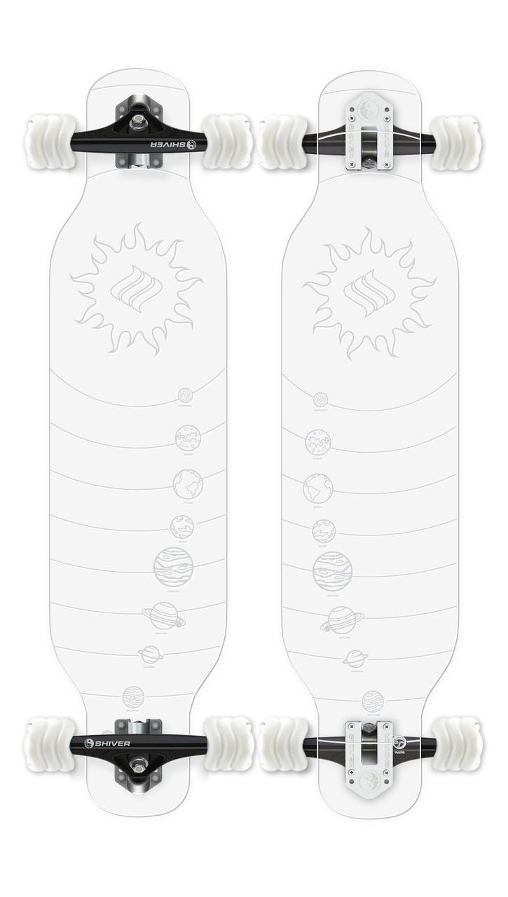 CLEAR Galaxy Longboard