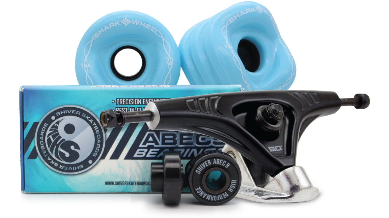 70mm Bundles. Sidewinder Wheels with Abec 9 Bearings and 180mm Pro Series Trucks