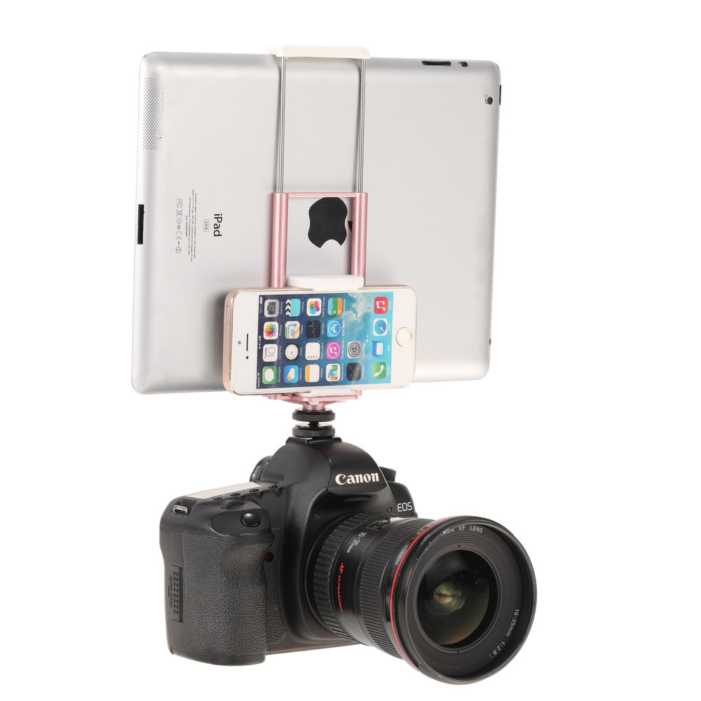MeVIDEO Livestream Dual Phone & Tablet Clamp Pink