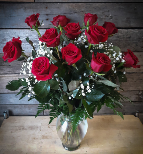 Always On My Mind- A Classic Dozen Red Roses