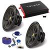 "(2) Kicker 10C104 10"" Comp Subwoofers and Crunch PX2000.1D 2000 Watt Max Mono Amplifier+ wire kit"