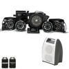 Kicker & SSV Works 44PRZ35 5 Speaker Polaris RZR 2013-2018 Stereo System with Kicker Bullfrog - BF400GY