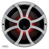 Wet Sounds REVO 10CX XS-S Silver XS Grill 10 Inch Marine High Performance LED Coaxial Speakers (pair)