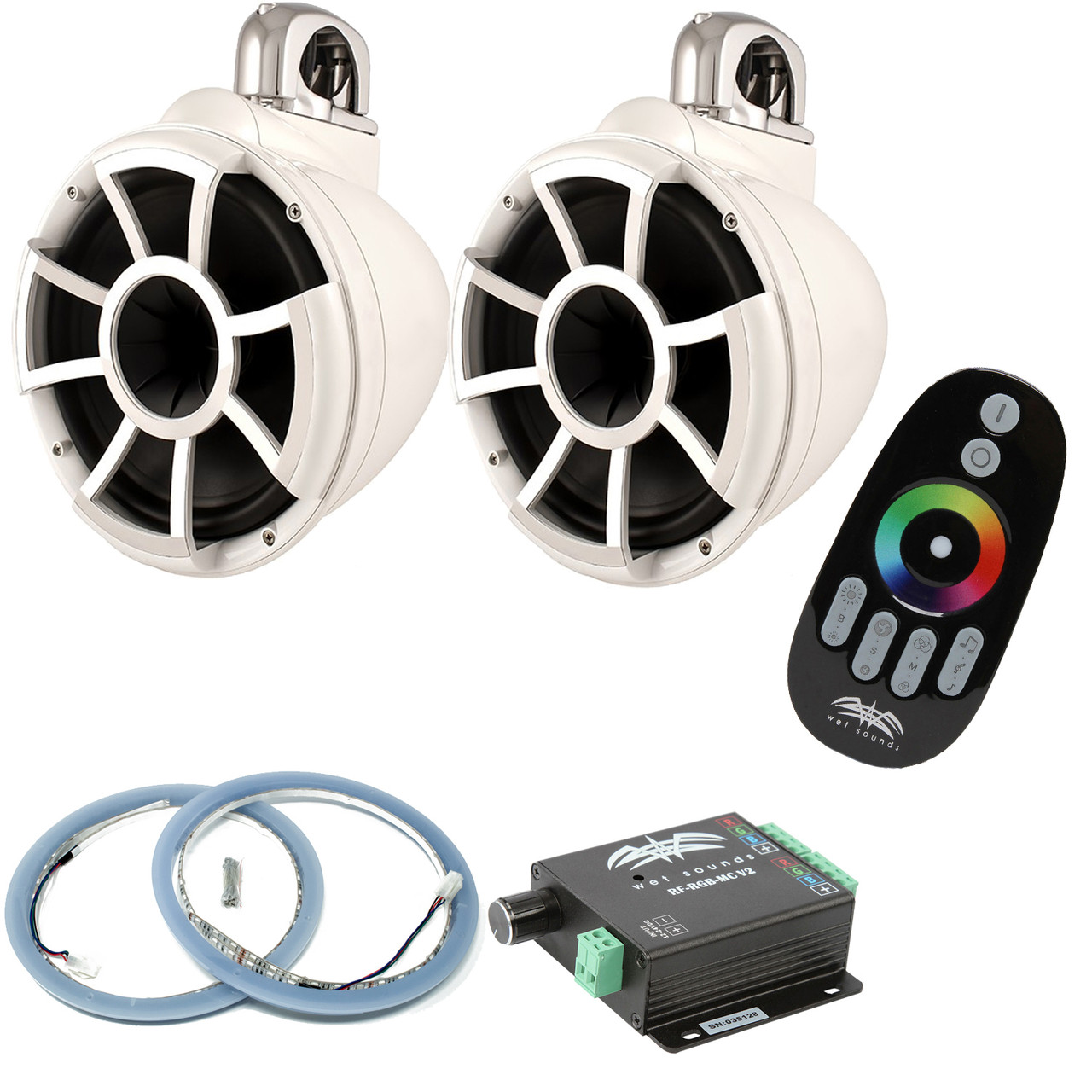 wet sounds rev10w fc fixed clamp tower speakers rgb led rings wet sounds rev10w fc fixed clamp tower speakers rgb led rings rf rgb mcv2 rgb led controller white creative audio