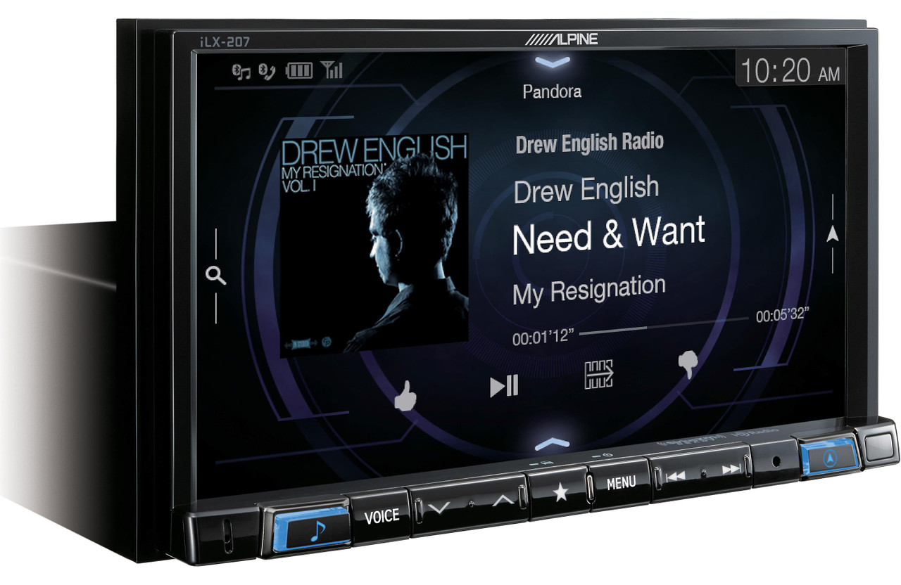 Alpine Ilx 207sxm 7 Inch Mech Less Compatible With Apple Car Play
