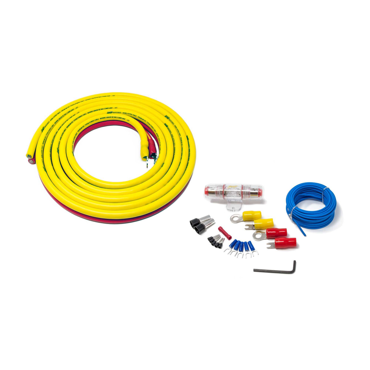 Stinger Sea4243 Marine Complete Amplifier Installation Kit 3 Meters