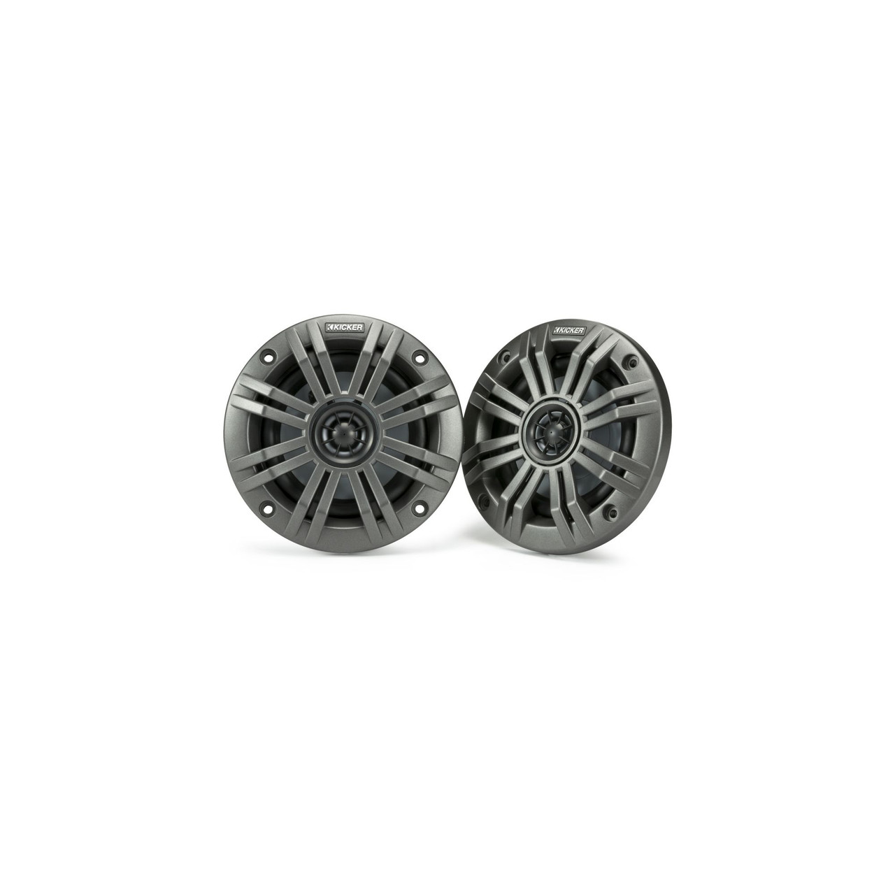 Kicker KM4 4-Inch (100mm) Marine Coaxial Speakers with 1/2-Inch