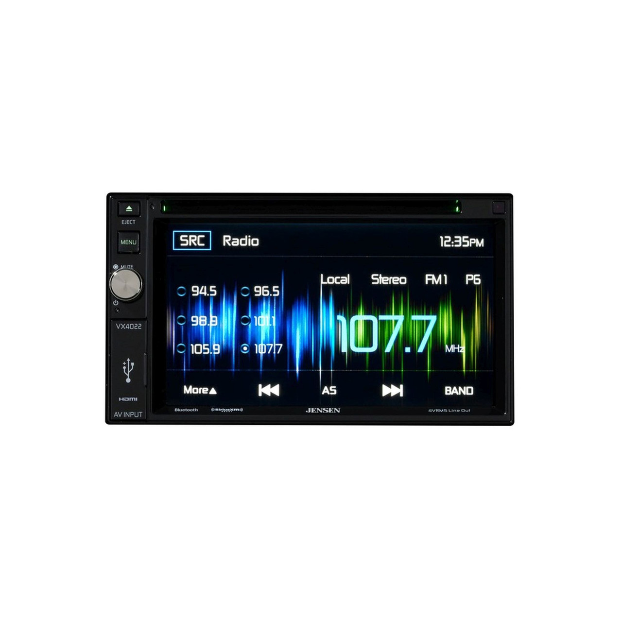 Jensen Refurbished VX4022 DDIN multimedia receiver with Sirius XM SXV300V1  Tuner package