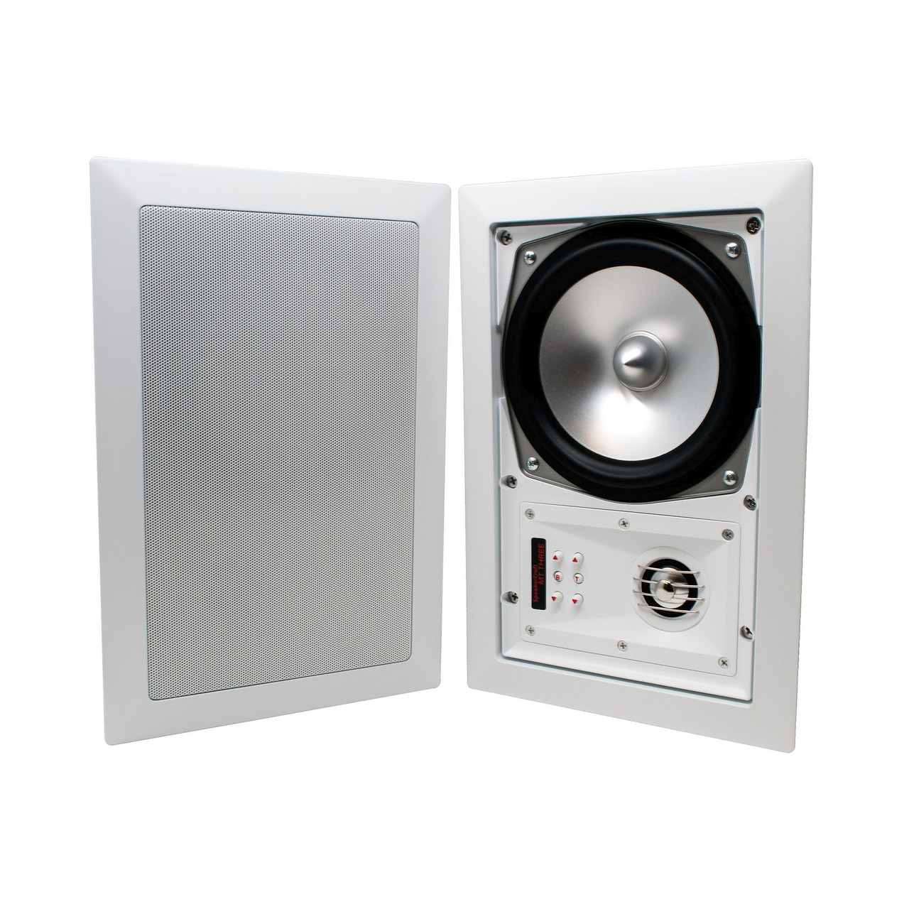SpeakerCraft - Two pairs of MT6Three In-Wall / Ceiling Speakers (4  Speakers) with Yamaha Network Receiver