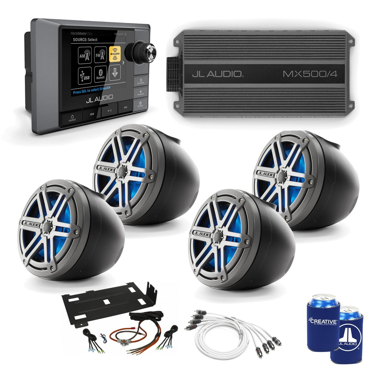 JL Audio RZR Bundle - MM100S MediaMaster, MX500/4 Amplifier, 4 anium on fi audio wiring, audiobahn wiring, fender wiring, pioneer wiring, ma audio wiring, bosch wiring,