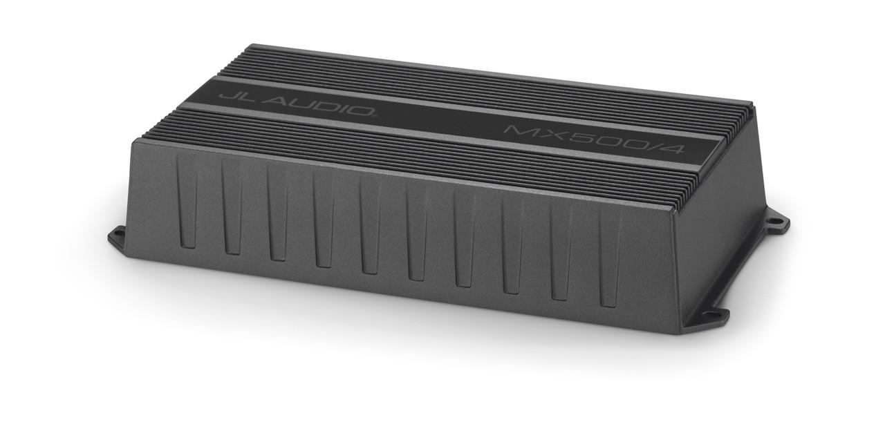 jl audio rzr bundle - mm100s mediamaster, mx500/4 amplifier, 4 titanium  black
