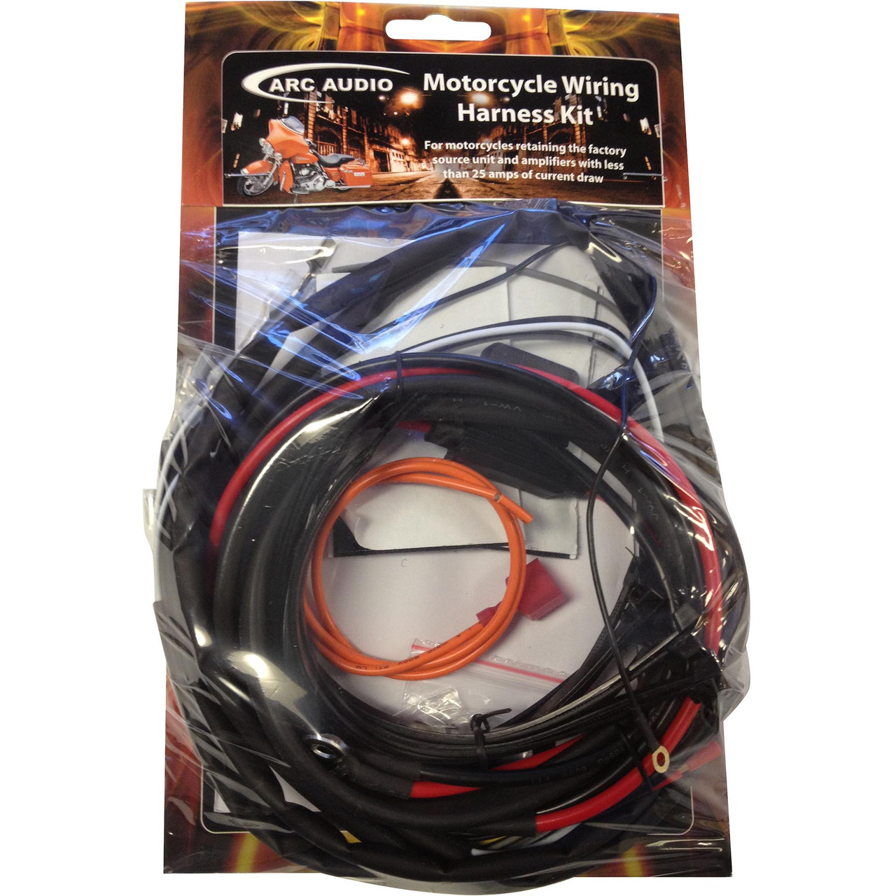 Arc Audio HD-Harness KS125.2BX2 Wiring Kit For Harley Davidson Street on