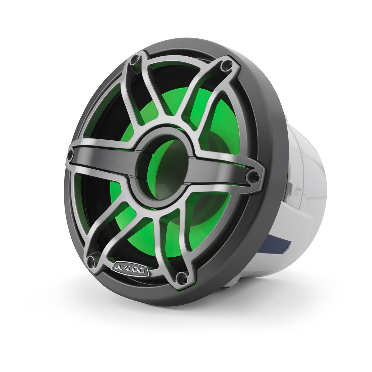 JL Audio 8-Inch M6 Marine Infinite Baffle Subwoofer, RGB LED, Gunmetal &  Titanium, Sport Grille - SKU: M6-8IB-S-GmTi-i-4