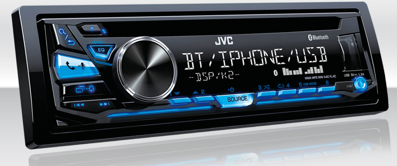 JVC KD-SR83BT USB/CD Receiver with Bluetooth