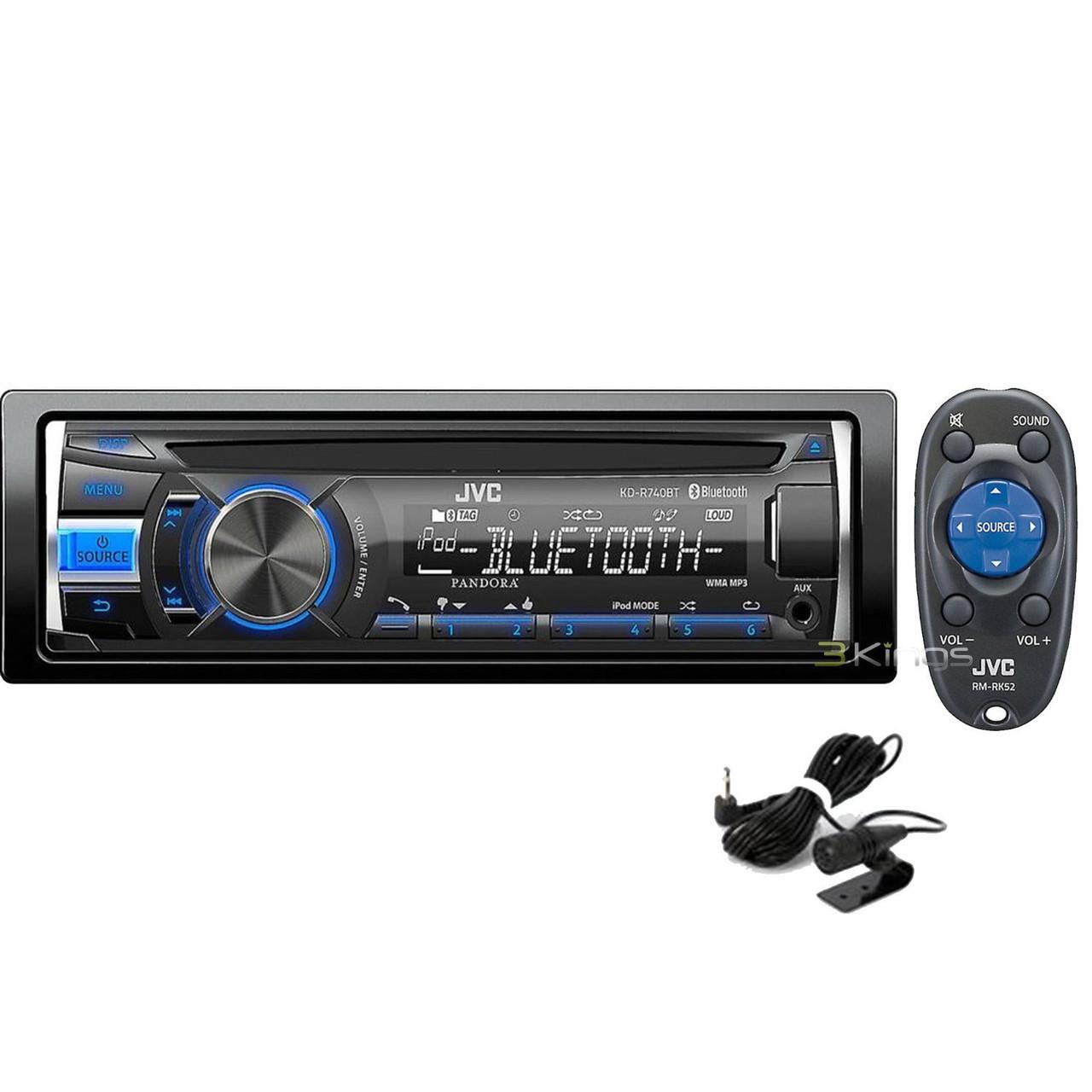 JVC Refurbished KD-R740BT Radio-USB-CD Bluetooth Receiver