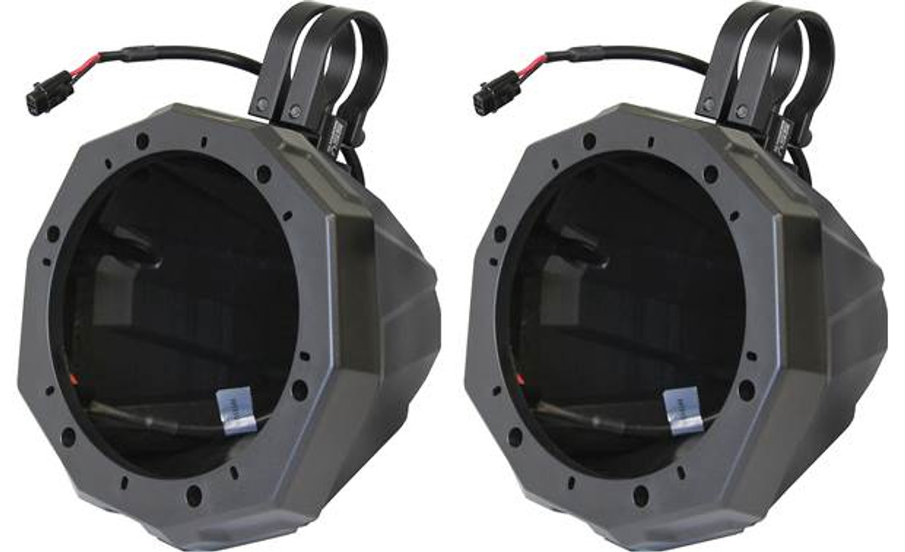 """SSV Works Universal Cage Mount Speaker Pods w// 1.75/"""" Dual Clamps For Polaris RZR"""