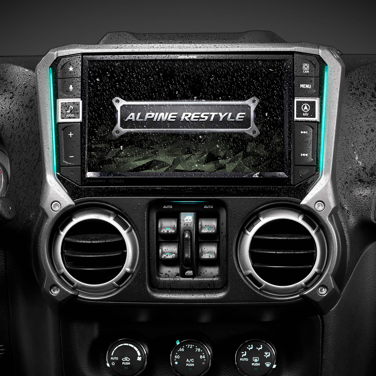 Alpine X9-WRA-JK 9-Inch Weather-Resistant Mech-less Navigation System  with Off-Road Mode for 9-9 Jeep® Wrangler