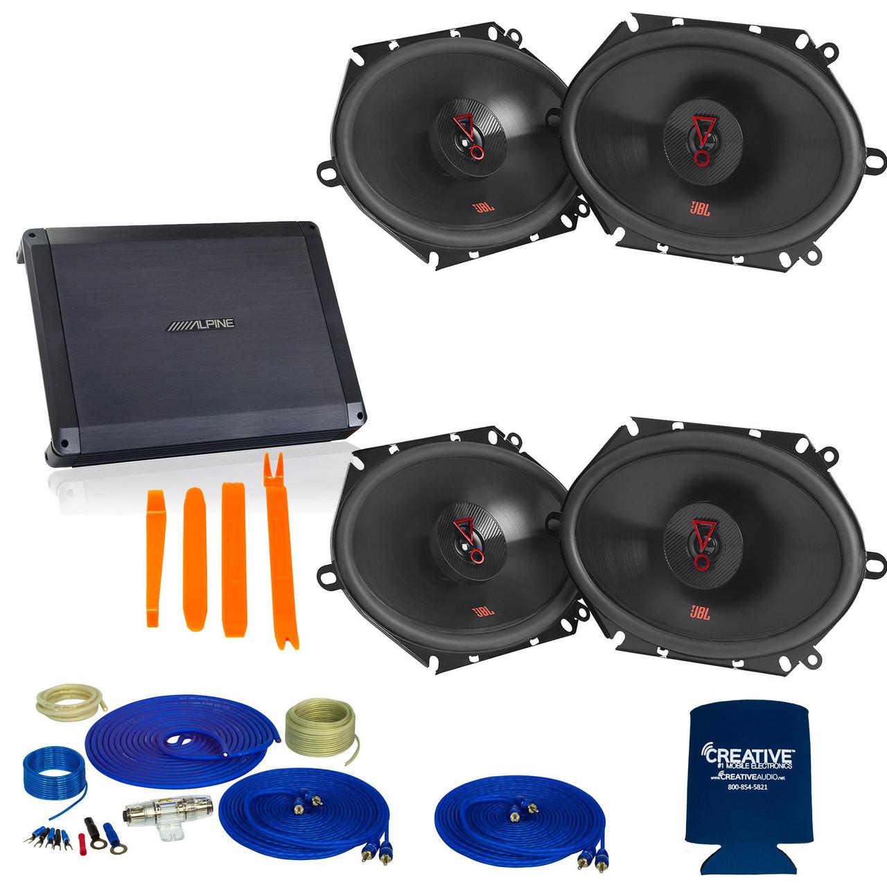 Alpine BBX-F1200 600 Watt 4//3//2 Channel Amplifier Car Stereo Amp Class-A//B 2-ohm