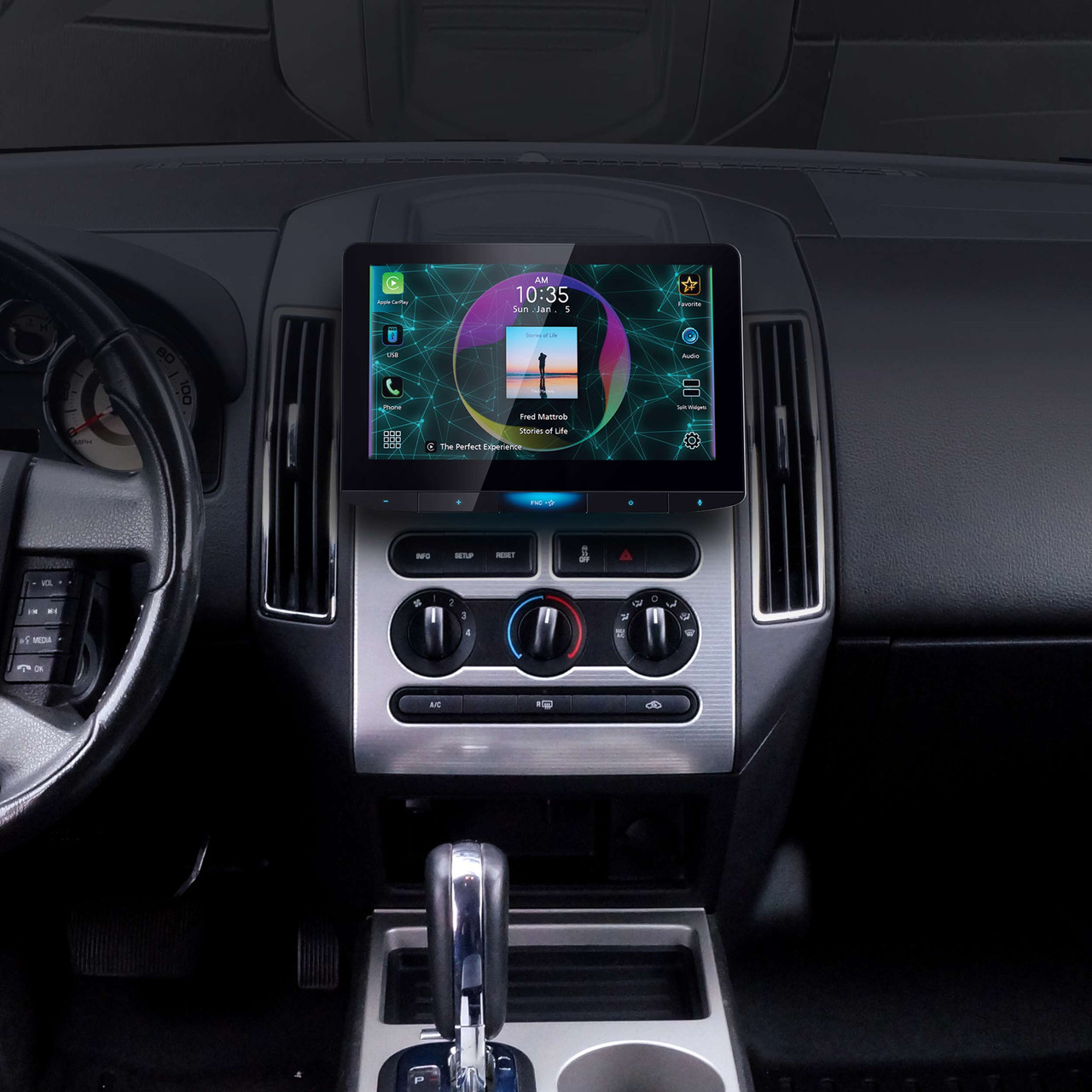 MP3 Player Double DIN Waze-Ready with Apple CarPlay or Android ...