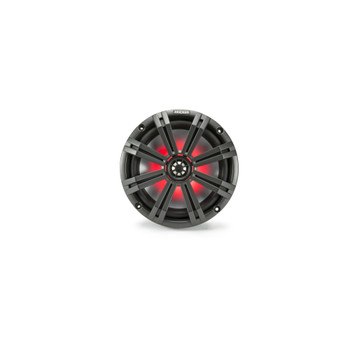Kicker KM8 8-Inch (200mm) Marine Coaxial Speakers with 1-Inch (25mm) Tweeters, LED, 4-Ohm,Charcoal and White Grilles