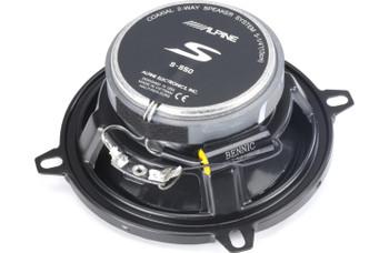 Alpine S-S50 S-Series 5.25-inch Coaxial 2-Way Speakers (pair)
