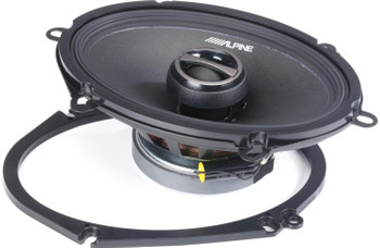 "Alpine S-S57 S-Series 5x7-inch (6x8"") Coaxial 2-Way Speakers (pair)"