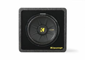 Kicker CompS 12 Inch 4 Ohm Single Loaded Enclosure 40VCWS124