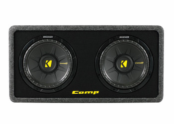 Kicker CompS 10 Inch Dual Loaded Enclosure 40DCWS102