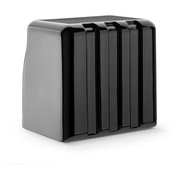 JL Audio FS108-W5-SG-TB: Single M8W5 Fiberglass Sealed Enclosure Titanium Black Sport Grille 4 Ohm