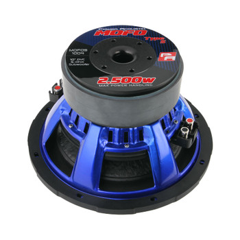 """Power Acoustik MOFOS-10D4 10"""" Dual 4ohm 2200W Aluminum Heat Sink Dust Cap Subwoofer"""