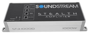 Soundstream ST3.1000D 1000W 3ch Class D Full Range Amplifier, Micro Size