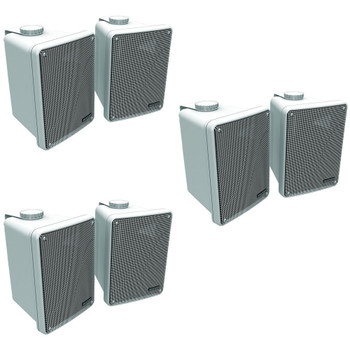 Kicker 11KB6000W White Outdoor Speaker Bundle - 6 Speakers