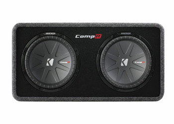 Kicker 40DCWR122 with Crunch PX2000.1D 2000 Watt Max Mono Amp, protective Grilles and Amp Wiring Kit