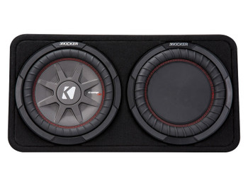 Kicker 43TCWRT102 CompRT10 10-inch (30cm) Subwoofer in Thin Profile Enclosure, 2-Ohm Bundle