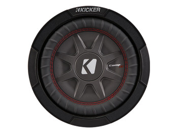 "Kicker 43CWRT81 8""  Dual Voice Coil 1 ohm slim line truck woofers Bundle"