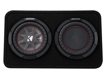 Kicker 43TCWRT82 CompRT8 8-inch (30cm) Subwoofer in Thin Profile Enclosure, 2-Ohm Bundle