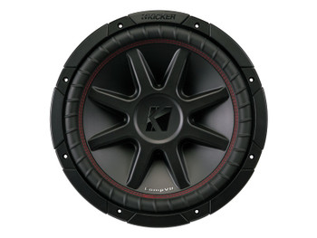 Kicker CVR12 CompVR 12-Inch (300mm) Subwoofer, 4-Ohm DVC Bundle
