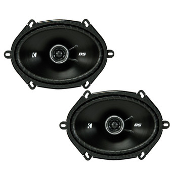 Kicker DSC680 6x8-Inch (160x200mm) Coaxial Speakers, 4-Ohm bundle