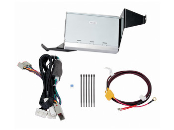 KICKER PowerStage Multi-Channel Amplifier & Powered Subwoofer Upgrade Kit for 2011 - 2012 Ford F-150 Crew-Cab vehicles with base radio and for 2013 - 2014 Ford F-150 Crew-Cab vehicles with non MyFord Touch radios.