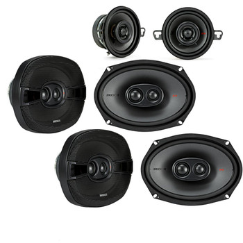 "Kicker for Dodge Ram 2012+ speaker bundle - Two pairs of 2017 Model KS 6x9"" speakers, & a pair of KS 3.5"" speakers."