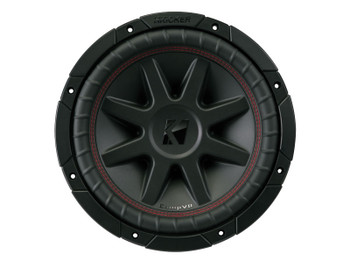 Kicker CVR10 CompVR 10-Inch (250mm) Subwoofer, 4-Ohm DVC Bundle